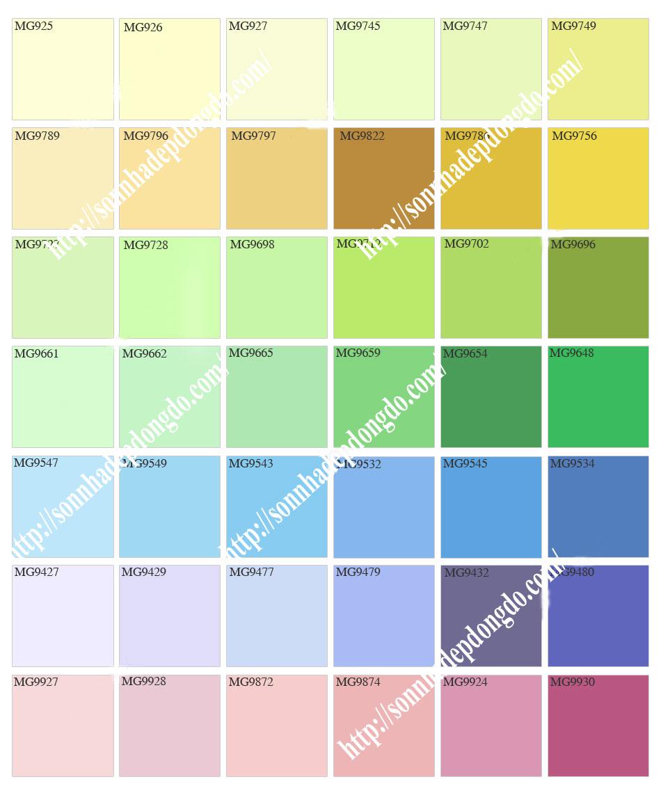 Bảng màu sơn Mykolor